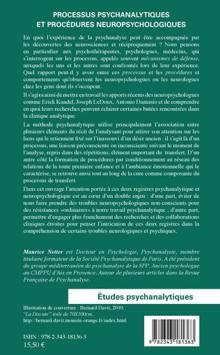 4eme Processus psychanalytiques et procédures neuropsychologiques