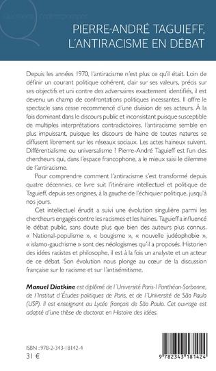 4eme Pierre André Taguieff, l'antiracisme en débat