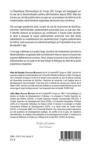 4eme Le régionalisme politique en république démocratique du Congo