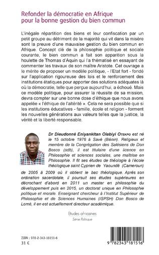4eme Refonder la démocratie en Afrique pour la bonne gestion du bien commun