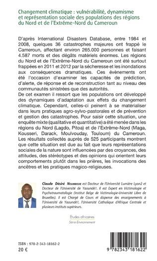 4eme Changement climatique : vulnérabilité, dynamisme et représentation sociale des populations des régions du Nord et de l'extrême-Nord du Cameroun