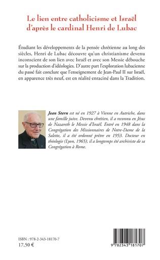 4eme Le lien entre catholicisme et Israël d'après le cardinal Henri de Lubac