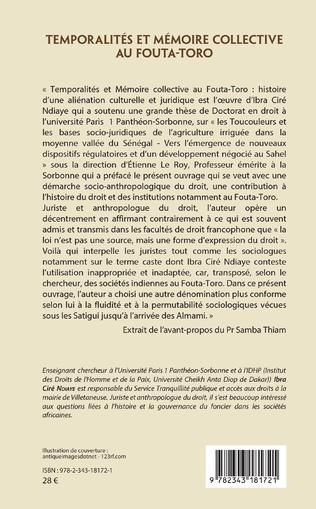 4eme Temporalités et mémoire collective au Fouta-Toro