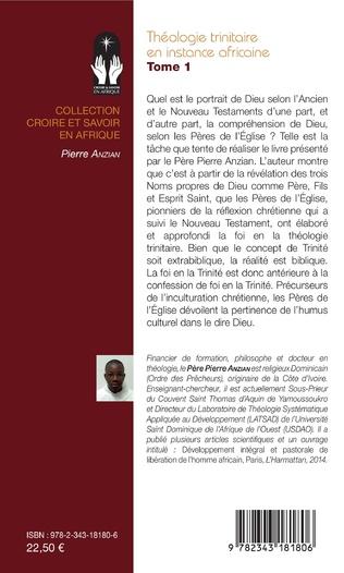 4eme Théologie trinitaire en instance africaine Tome 1
