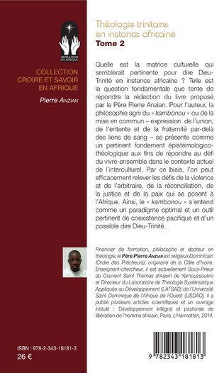 4eme Théologie trinitaire en instance africaine Tome 2