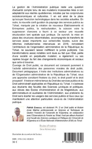 4eme L'administration publique au Tchad à l'ère de la décentralisation