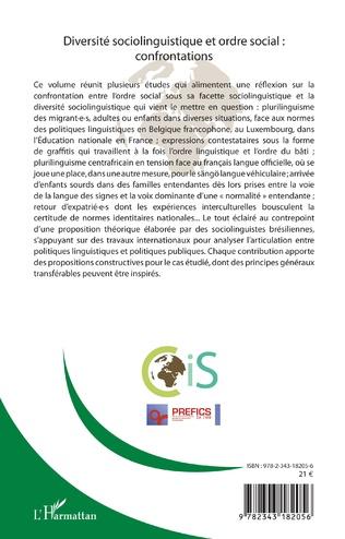 4eme Diversité sociolinguistique et ordre social : confrontations