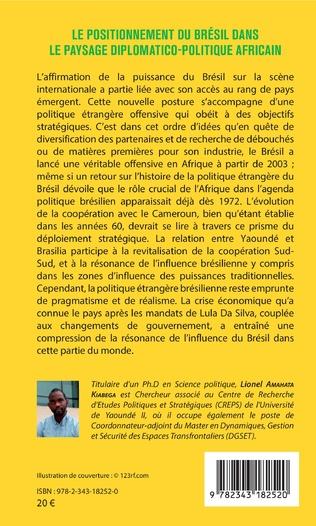 4eme Le positionnement du Brésil dans le paysage diplomatico-politique africain
