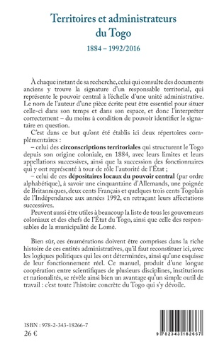 4eme Territoires et administrateurs du Togo