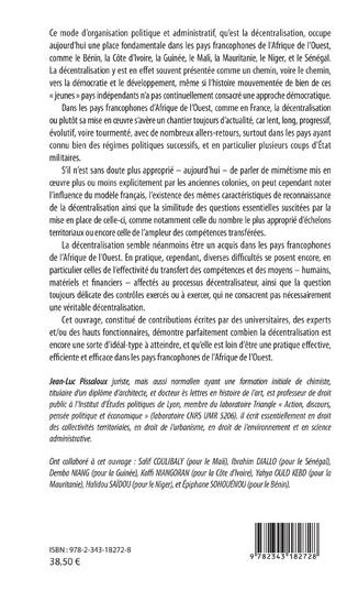 4eme La décentralisation  dans les pays francophones d'Afrique de l'Ouest