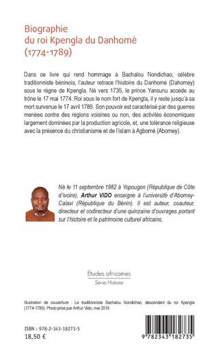 4eme Biographie du roi Kpengla du Danhomè (1774-1789)