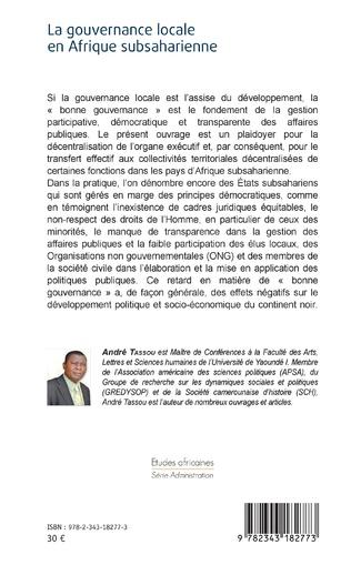 4eme La gouvernance locale en Afrique subsaharienne