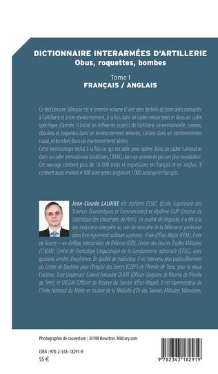 4eme Dictionnaire interarmées d'artillerie