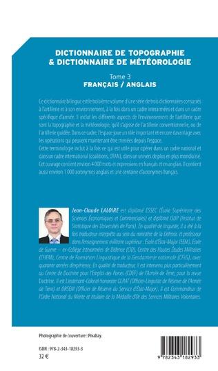 4eme Dictionnaire de topographie et dictionnaire de météorologie