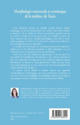 4eme Morphologie structurale et systémique de la médina de Tunis