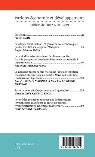 4eme Parlons économie et développement