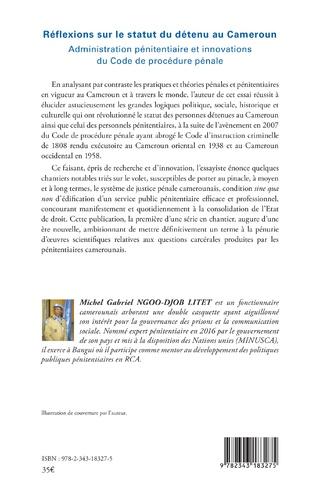 4eme Réflexions sur le statut du détenu au Cameroun
