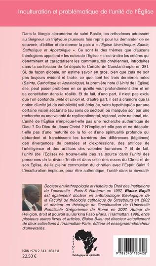 4eme Inculturation et problématique de l'unité de l'Eglise