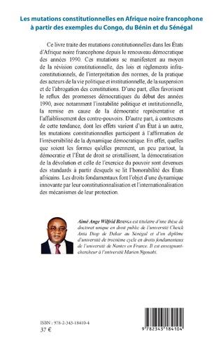 4eme Les mutations constitutionnelles en Afrique noire francophone