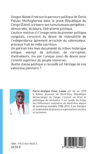 4eme Visages Nande II Denis Paluku Muthogerwa