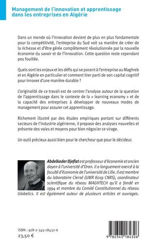 4eme Management de l'innovation et apprentissage dans les entreprises en Algérie