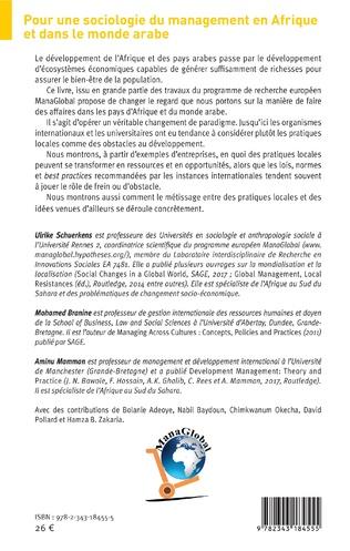 4eme Pour une sociologie du management en Afrique et dans le monde arabe