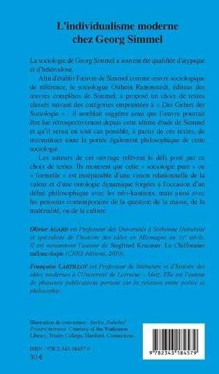 4eme L'individualisme moderne chez Georg Simmel