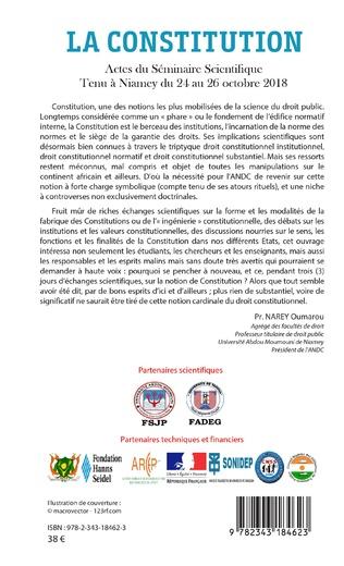 4eme La constitution. Actes du Séminaire Scientifique tenu à Niamey du 24 au 26 octobre 2018