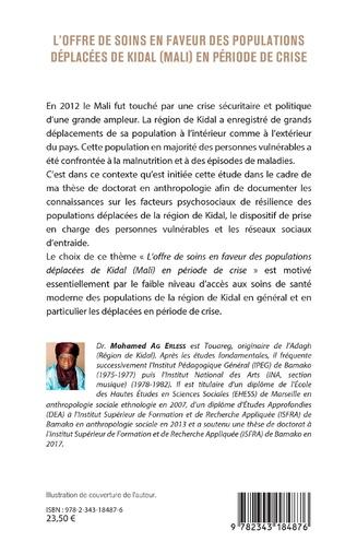 4eme L'offre de soins en faveur des populations déplacées de Kidal (Mali) en période de crise