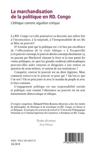 4eme La marchandisation de la politique en RD. Congo