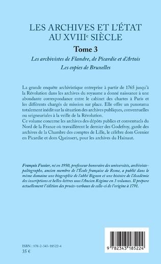 4eme Les archives et l'Etat au XVIIIe siècle