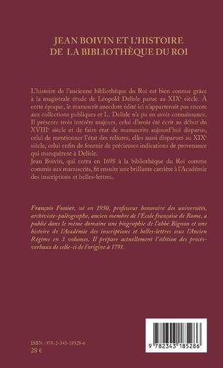 4eme Jean Boivin et l'histoire de la bibliothèque du Roi