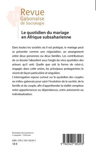 4eme Le quotidien du mariage en Afrique subsaharienne