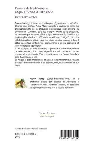 4eme L'aurore de la philosophie négro-africaine du XXe siècle