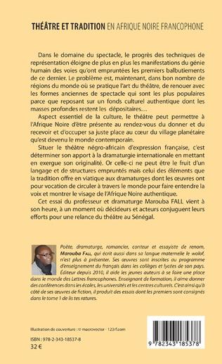 4eme Théâtre et tradition en Afrique noire francophone