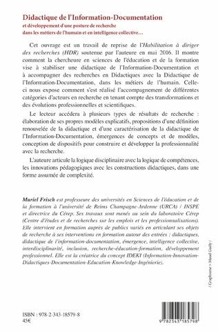 4eme Didactique de l'Information - Documentation