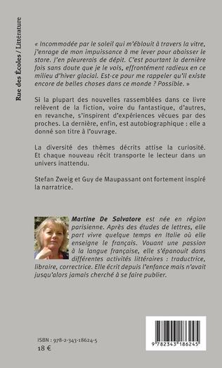 Le Silence A Toujours Le Dernier Mot Martine De Salvatore