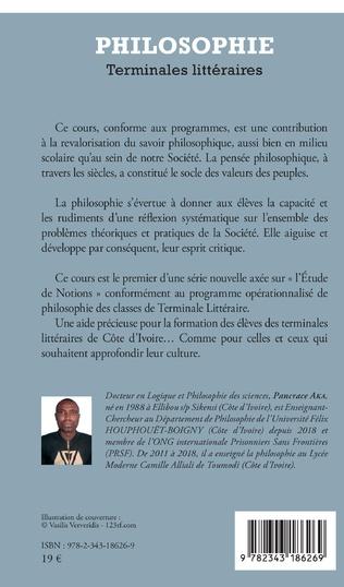 4eme Philosophie Terminales littéraires
