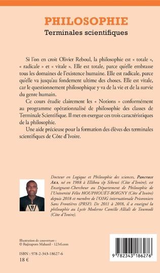 4eme Philosophie Terminales scientifiques