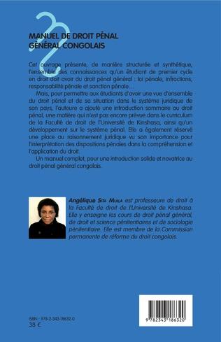 4eme Manuel de droit pénal général congolais