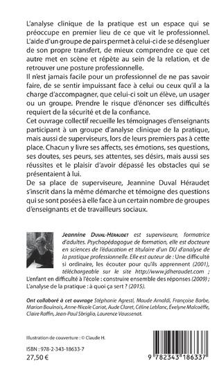 4eme Analyse clinique de la pratique en milieu scolaire et ailleurs...