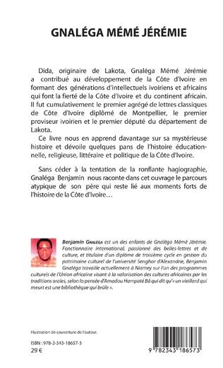4eme Gnaléga Mémé Jérémie Premier proviseur ivoirien