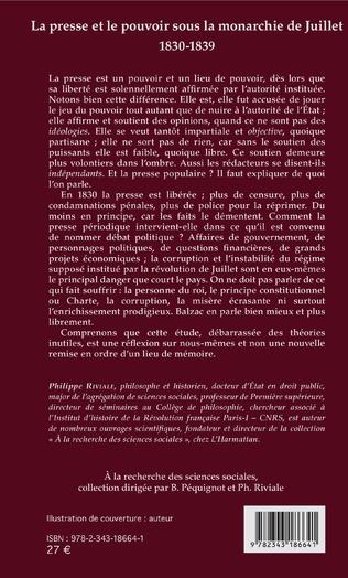 4eme La presse et le pouvoir sous la monarchie de Juillet