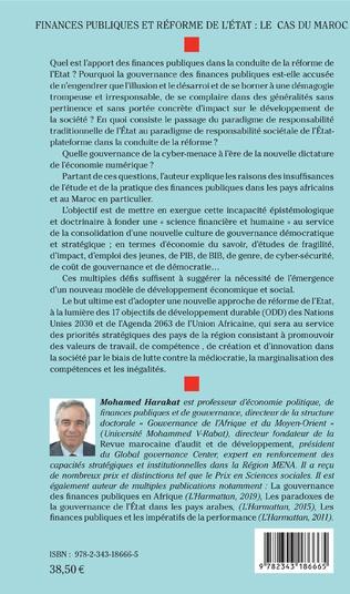 4eme Finances publiques et réforme de l'Etat : le cas du Maroc