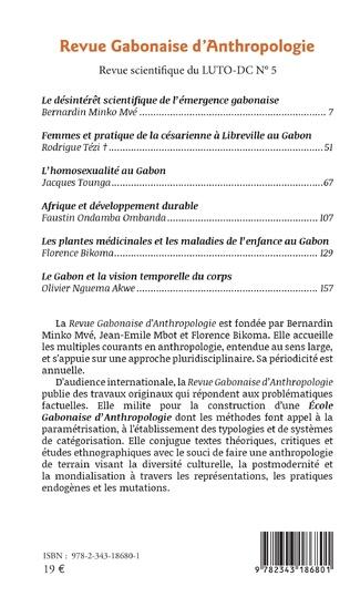 4eme Revue Gabonaise d'Anthropologie