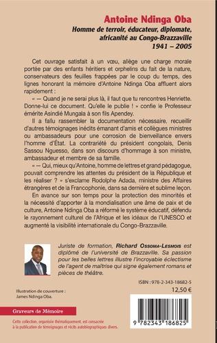 4eme Antoine Ndinga Oba Homme de terroir, éducateur, diplomate, africanité au Congo-Brazzaville