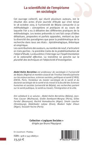 4eme La scientificité de l'empirisme en sociologie