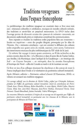4eme Traditions voyageuses dans l'espace francophone