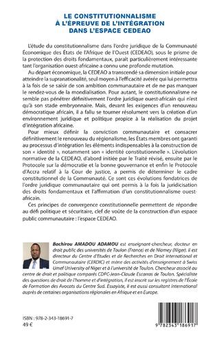4eme Le constitutionnalisme à l'épreuve de l'intégration dans l'espace CEDEAO