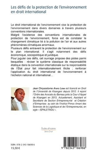 4eme Les défis de la protection de l'environnement en droit international